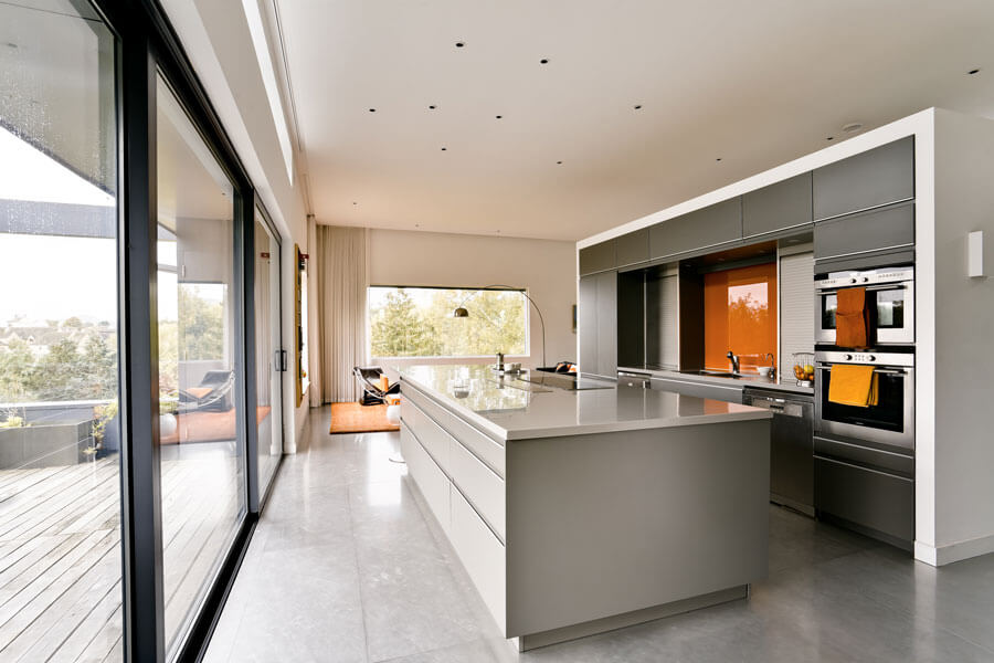 Kitchen with balcony