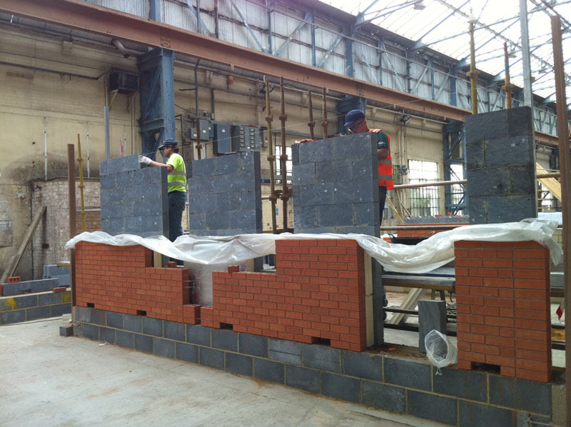Pre-fabricated cavity walls built in factory